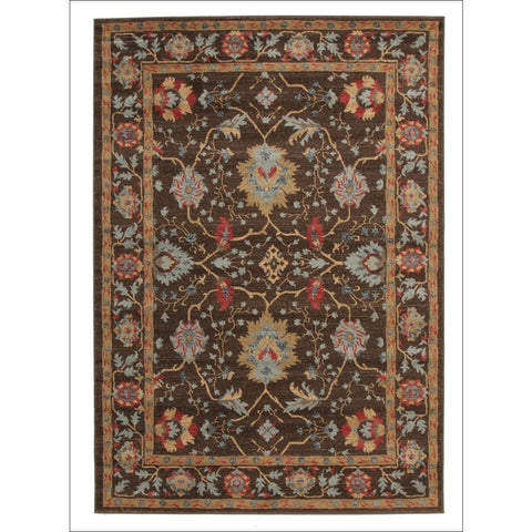 Nain Persian Transitional Design Rug Brown Red - Rugs Of Beauty