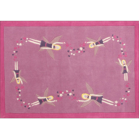 Fairy Princess Stardust Magic Pink Rug - Rugs Of Beauty - 1