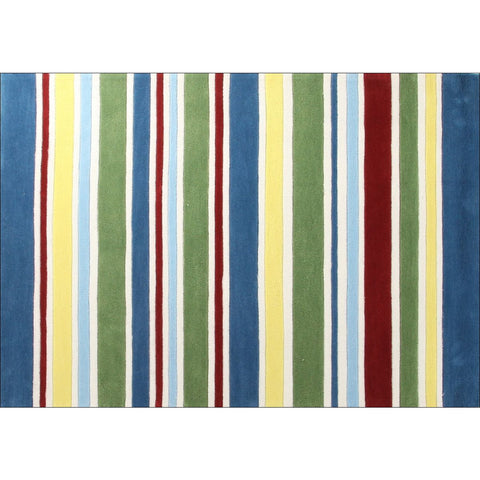 San Remo Colourful Stripes Rug - Rugs Of Beauty - 1