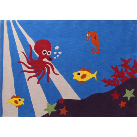Awesome Under Water Theme Rug Blue - Rugs Of Beauty