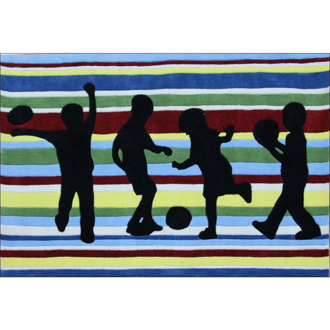 Funky Striped Kids Rug Bright Colours - Rugs Of Beauty