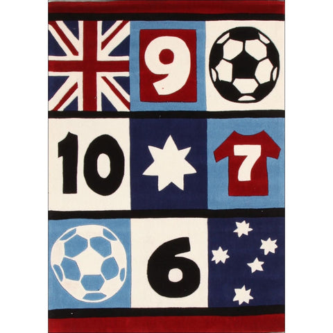 Awesome Soccer Southern Cross Rug Blue - Rugs Of Beauty