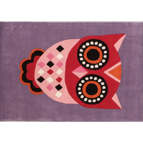 Gorgeous Purple Owl Kids Rug - Rugs Of Beauty