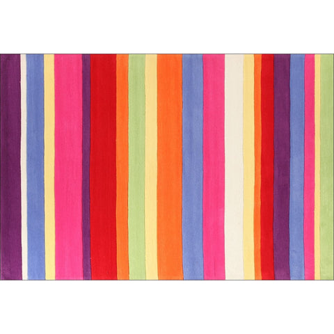 Candy Stripe Kids Rug - Rugs Of Beauty - 1