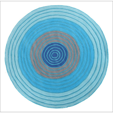 Ripple Blue Kids Rug - Rugs Of Beauty
