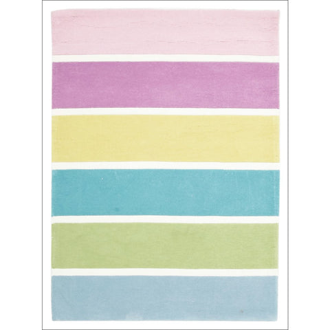 Pastel Banded Stripes Rug - Rugs Of Beauty