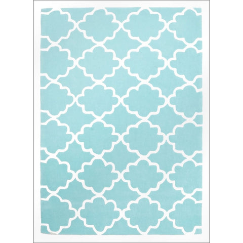 Kids Trellis Design Rug Soft Blue - Rugs Of Beauty