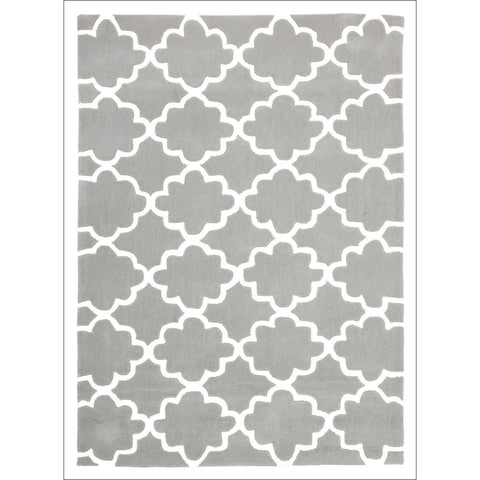 Kids Trellis Design Rug Grey - Rugs Of Beauty - 1