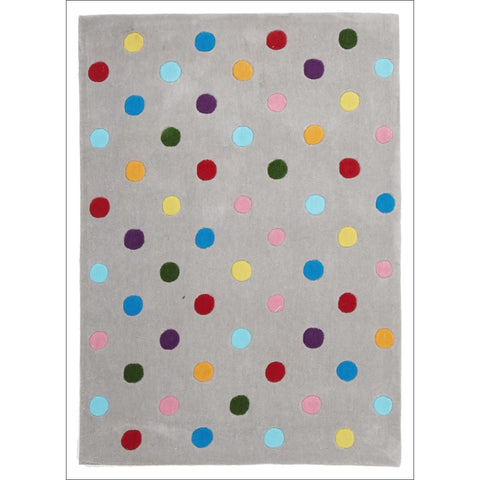 Kids Dots Design Rug Grey - Rugs Of Beauty