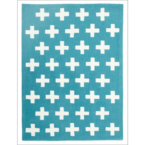 Nordic Crosses Rug Blue - Rugs Of Beauty
