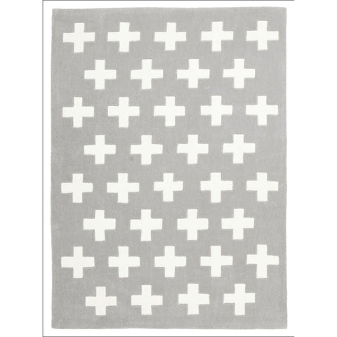 Nordic Crosses Rug Grey - Rugs Of Beauty - 1