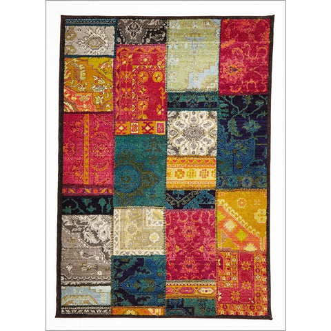 Stunning Patchwork Design Rug Multi - Rugs Of Beauty