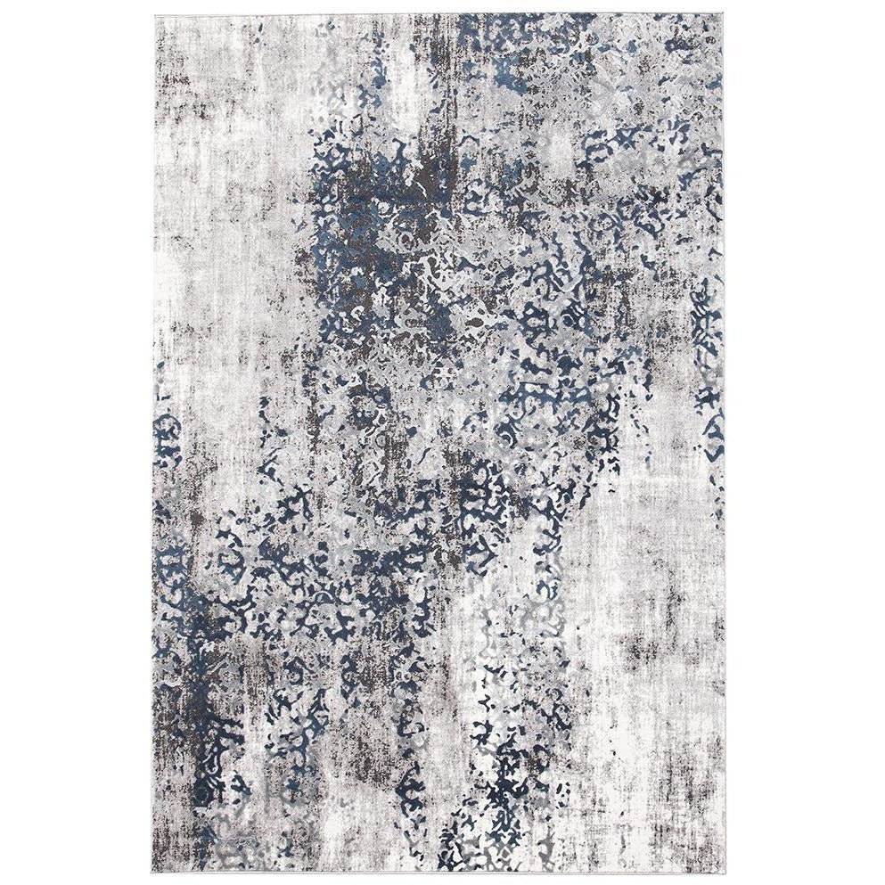 Elizabeth 331 Grey Blue Beige Abstract Patterned Modern