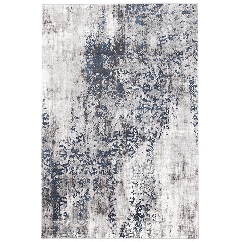 Elizabeth 331 Grey Blue Beige Abstract Patterned Modern Rug - Rugs Of Beauty - 1