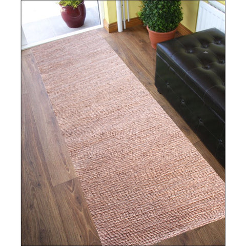 Handmade Natural Jute Runner Rug-1005-Brown - Rugs Of Beauty