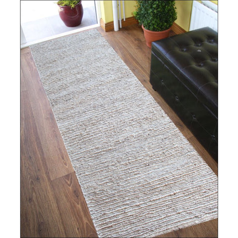 Handmade Natural Jute Runner Rug-1005-Natural - Rugs Of Beauty