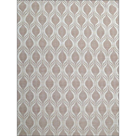 Flatweave Patterned Jute Durrie Rug - Kerla 1031 - Natural - Rugs Of Beauty