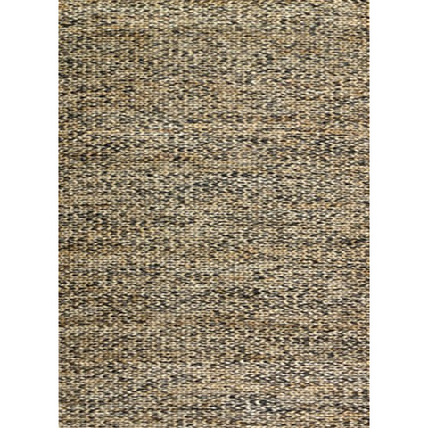 Cream & Charcoal Pattern Jute & Cotton Designer Rug - Rugs Of Beauty - 1