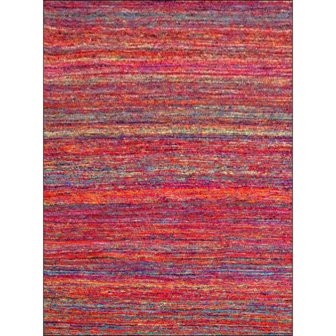 Handwoven Sari Silk Rug - Khadi 1088 - Red - Rugs Of Beauty