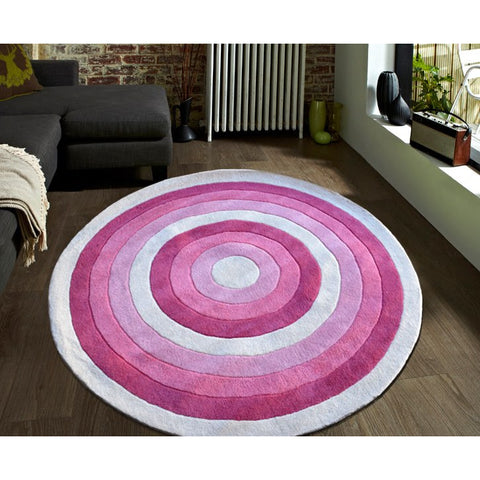 Pink Round Designer Kids Rug - Rugs Of Beauty