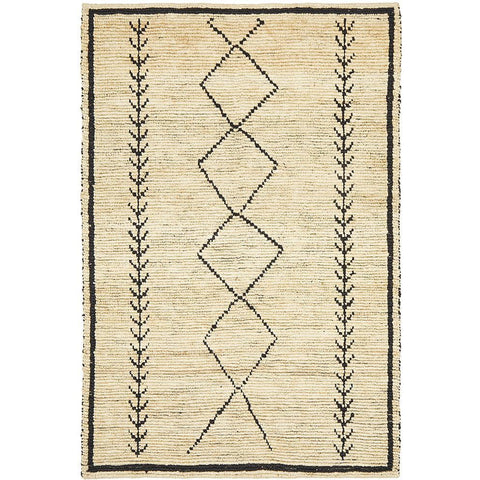 Inta 1327 Brown Natural Modern Jute Rug - Rugs Of Beauty - 1