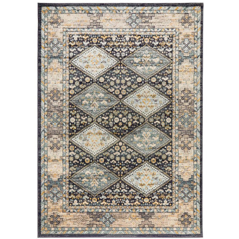 Tivoli 2780 Navy Blue Multi Colour Transitional Rug - Rugs Of Beauty - 1