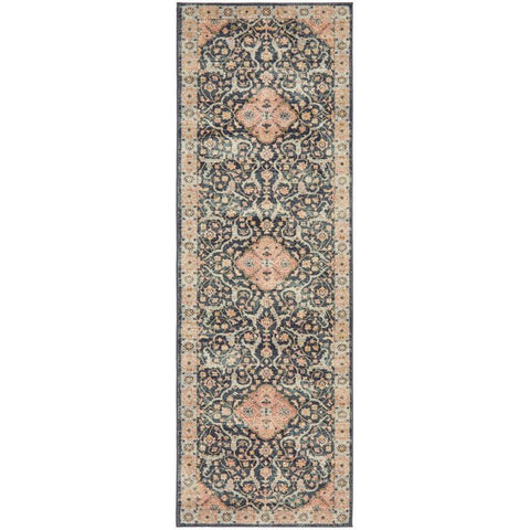 Tivoli 2781 Midnight Blue Sand Multi Colour Transitional Runner Rug - Rugs Of Beauty - 1