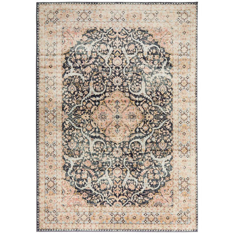 Tivoli 2781 Midnight Blue Sand Multi Colour Transitional Rug - Rugs Of Beauty - 1