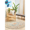 Tivoli 2782 Sky Blue Sand Multi Colour Transitional Round Rug - Rugs Of Beauty - 3