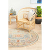 Tivoli 2782 Sky Blue Sand Multi Colour Transitional Round Rug - Rugs Of Beauty - 4