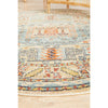 Tivoli 2782 Sky Blue Sand Multi Colour Transitional Round Rug - Rugs Of Beauty - 7