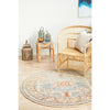 Tivoli 2782 Sky Blue Sand Multi Colour Transitional Round Rug - Rugs Of Beauty - 2