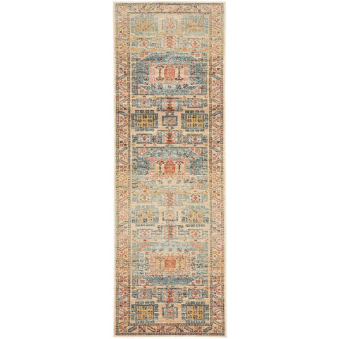 Tivoli 2782 Sky Blue Sand Multi Colour Transitional Runner Rug - Rugs Of Beauty - 1