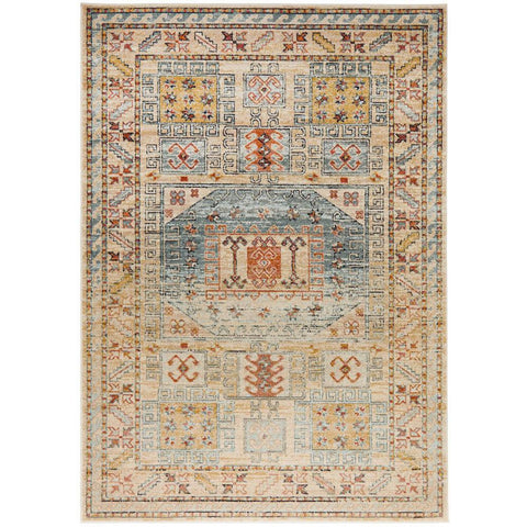 Tivoli 2782 Sky Blue Sand Multi Colour Transitional Rug - Rugs Of Beauty - 1