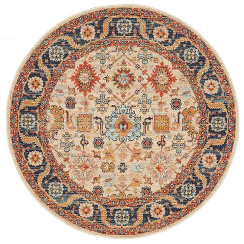 Tivoli 2783 Sand Multi Colour Transitional Round Rug - Rugs Of Beauty - 1
