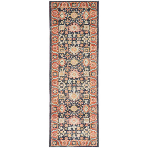 Tivoli 2783 Navy Blue Multi Colour Transitional Runner Rug - Rugs Of Beauty - 1