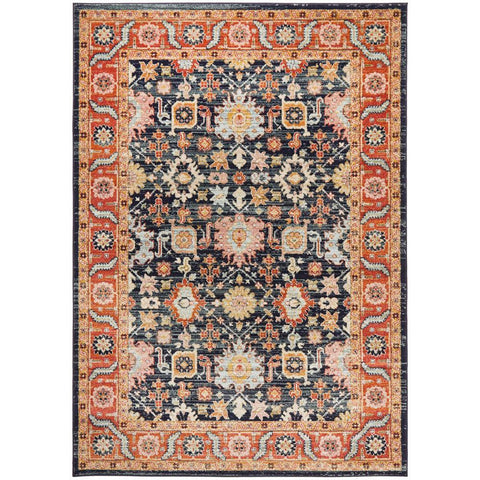 Tivoli 2783 Navy Blue Multi Colour Transitional Rug - Rugs Of Beauty - 1