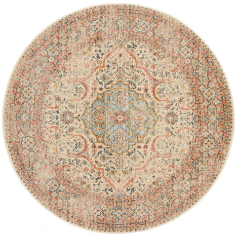 Tivoli 2784 Earth Multi Colour Transitional Round Rug - Rugs Of Beauty - 1