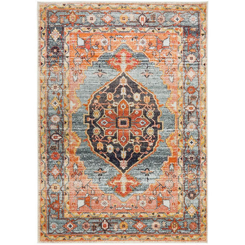 Tivoli 2785 Blue Rust Multi Colour Transitional Rug - Rugs Of Beauty - 1