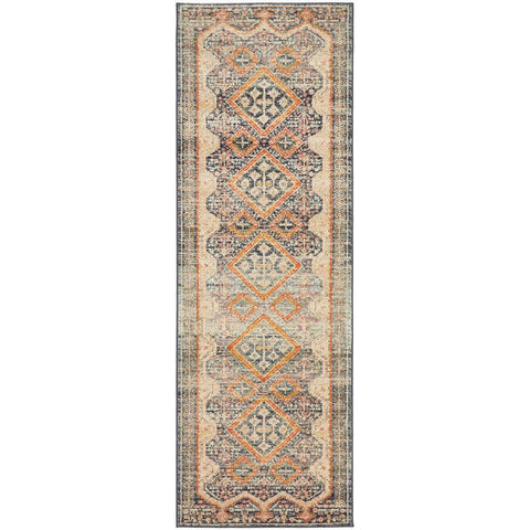Tivoli 2786 Navy Blue Multi Colour Transitional Runner Rug - Rugs Of Beauty - 1
