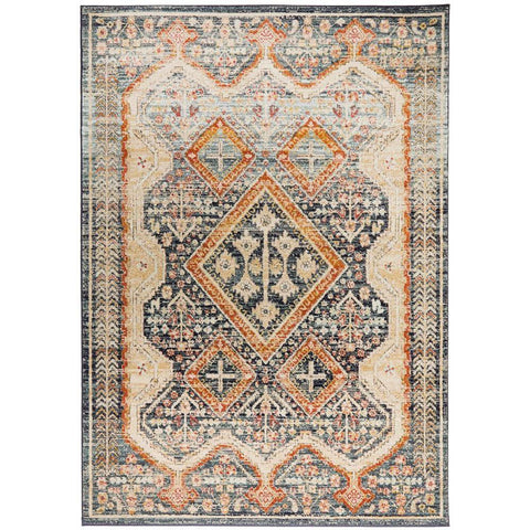 Tivoli 2786 Navy Blue Multi Colour Transitional Rug - Rugs Of Beauty - 1