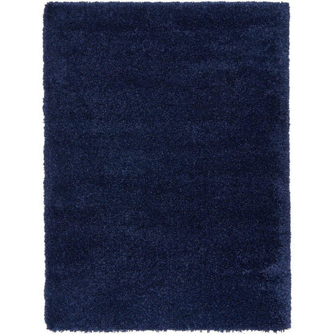 Sevan 4478 Navy Blue Modern Shaggy Rug - Rugs Of Beauty - 1