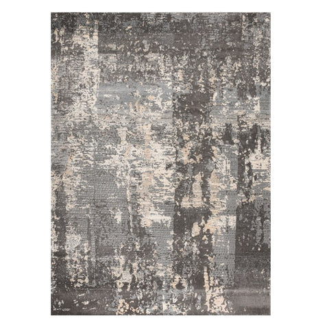 Trent 348 Grey Beige Modern Patterned Rug - Rugs Of Beauty - 1