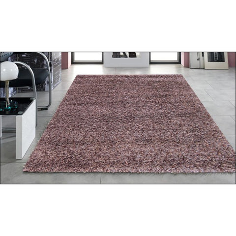 Malibu Hand Knotted Poly & Wool Mix 391 Brown Plush Shaggy Rug - Rugs Of Beauty - 1