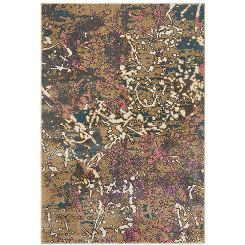Brakist 227 Abstract Multi Coloured Patterned Modern Designer Rug - Rugs Of Beauty - 1