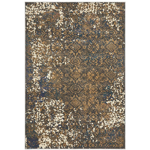 Brakist 228 Abstract Multi Coloured Patterned Modern Designer Rug - Rugs Of Beauty - 1