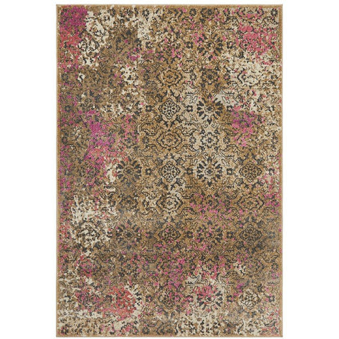 Brakist 229 Abstract Pink Multi Coloured Patterned Modern Designer Rug - Rugs Of Beauty - 1