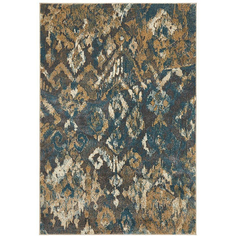 Brakist 230 Abstract Multi Coloured Patterned Modern Designer Rug - Rugs Of Beauty - 1