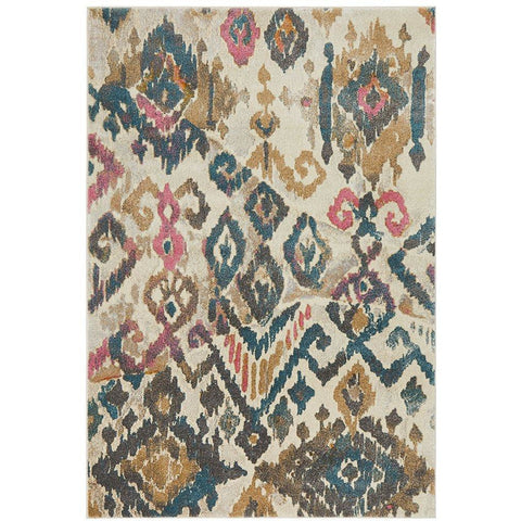 Brakist 231 Abstract Multi Coloured Patterned Modern Designer Rug - Rugs Of Beauty - 1