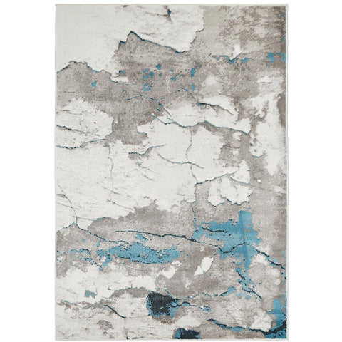 Dellinger 231 Blue Beige Grey Modern Rug - Rugs Of Beauty - 1